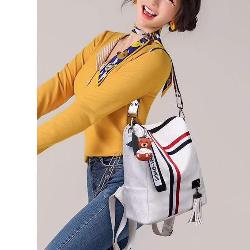 Fashion Leather Shoulder Bag | Backpack | School