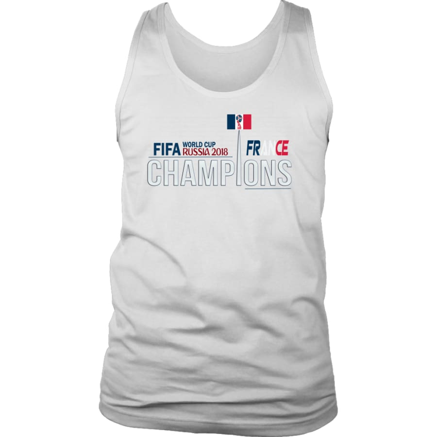 France Mens Tank Top World Cup 2018 Soccer Shirts (6 Colors) - District / White / S