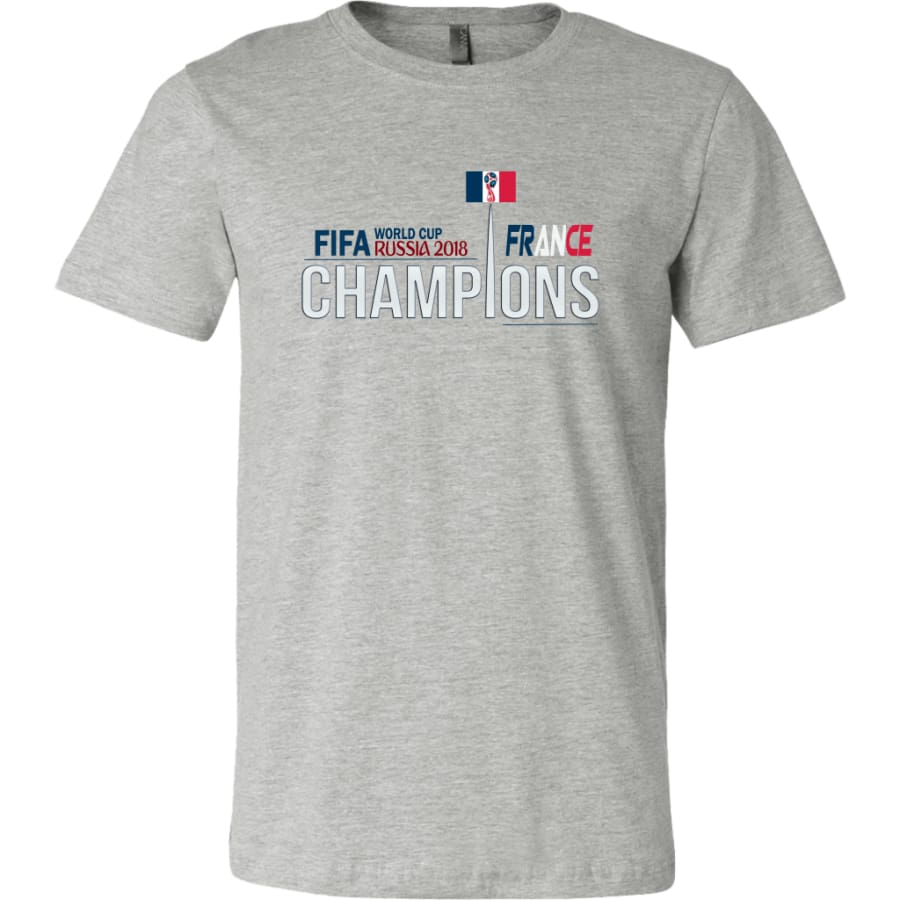 France Shirt World Cup 2018 For Men Soccer Shirts (14 Colors) - Canvas Mens / Athletic Heather / S