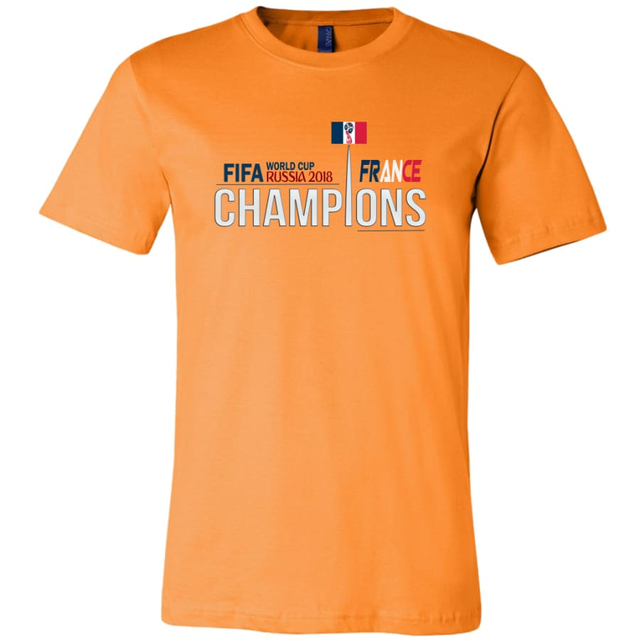 France Shirt World Cup 2018 For Men Soccer Shirts (14 Colors) - Canvas Mens / Orange / S