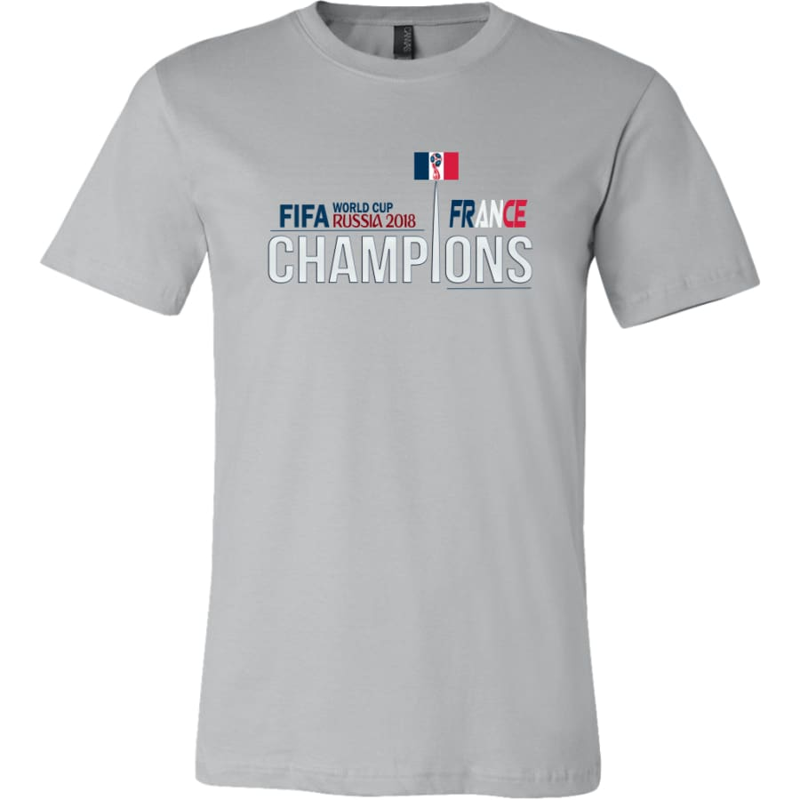 France Shirt World Cup 2018 For Men Soccer Shirts (14 Colors) - Canvas Mens / Silver / S
