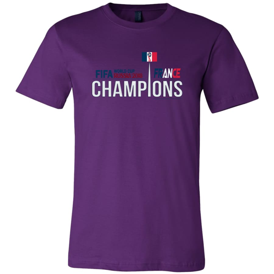 France Shirt World Cup 2018 For Men Soccer Shirts (14 Colors) - Canvas Mens / Team Purple / S