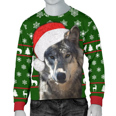 Santa Wolf Christmas Sweater|Men's Sweater Christmas Gift