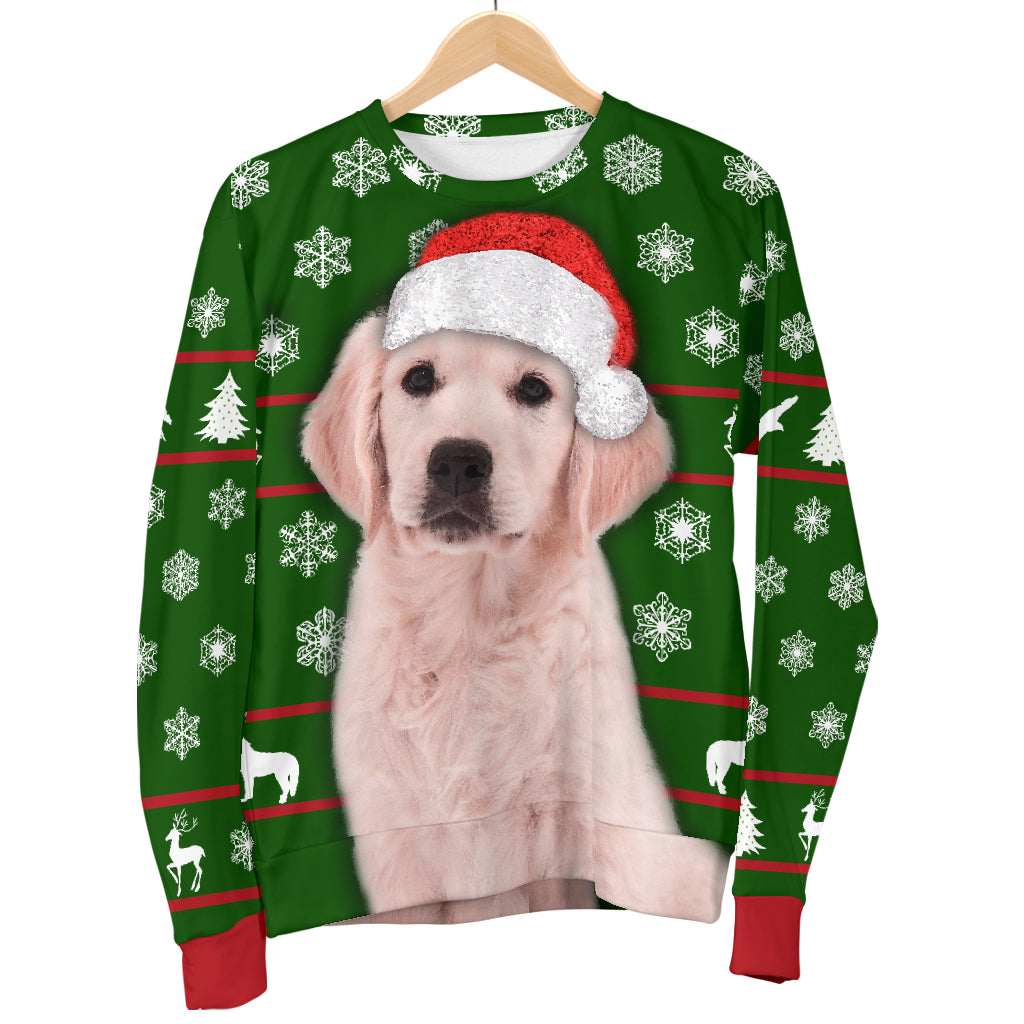 Santa Golden Retriever Womens Christmas Sweater|Christmas Gift