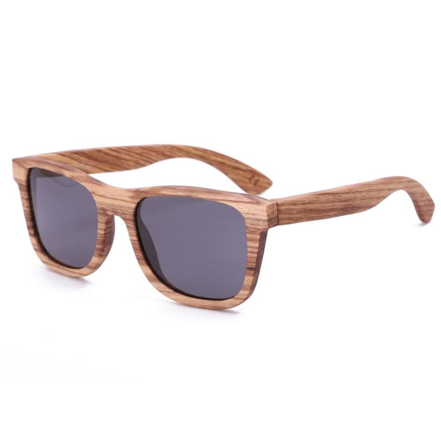 Full Frame Zebra Wood Sunglasses Polarized For Men Women (2 colors) - Black