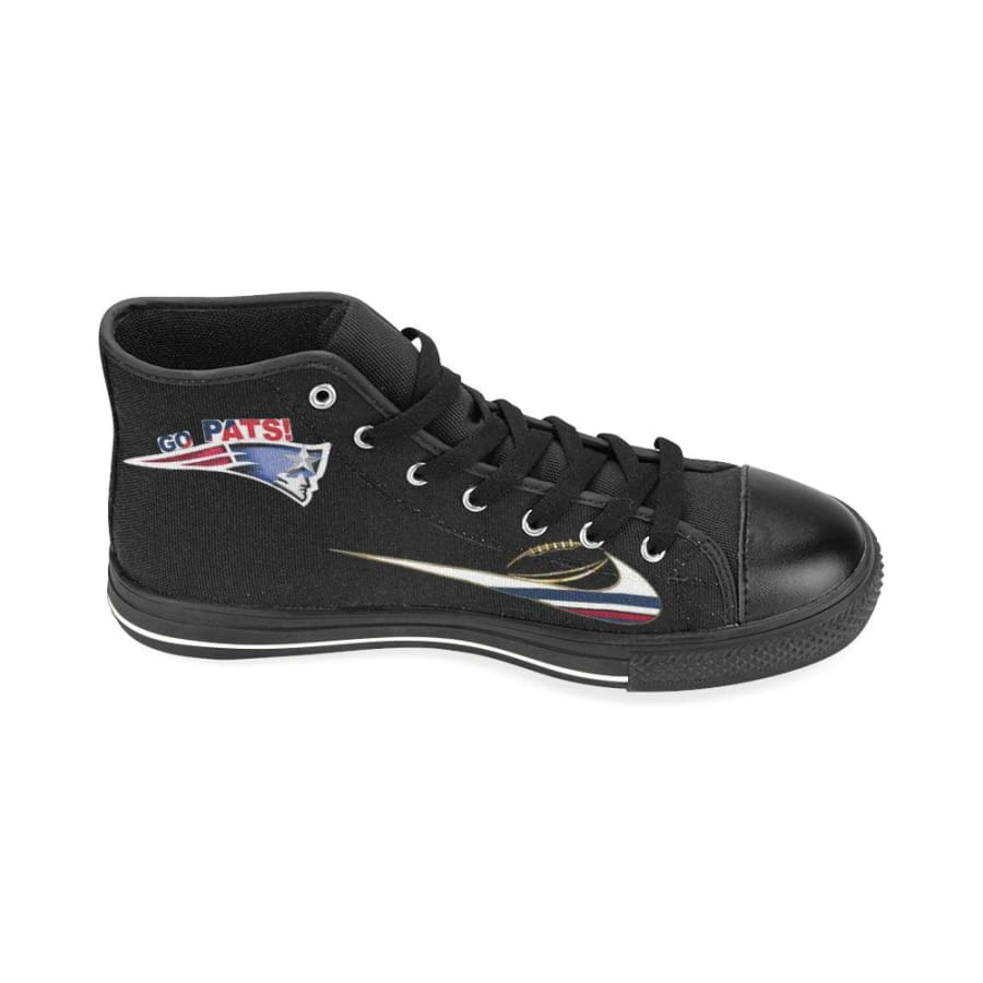 Go Patriots High Top Shoes Black Super Bowl 52 For Men Women Kids - LII Aquila Canvas Mens (Model017) (Large Size) / US13 / Man