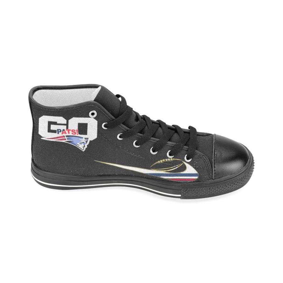 Go Patriots Super Bowl LII High Top Shoes Black For Men Women Kids - Aquila Canvas Mens (Model017) (Large Size) / US13 / Man
