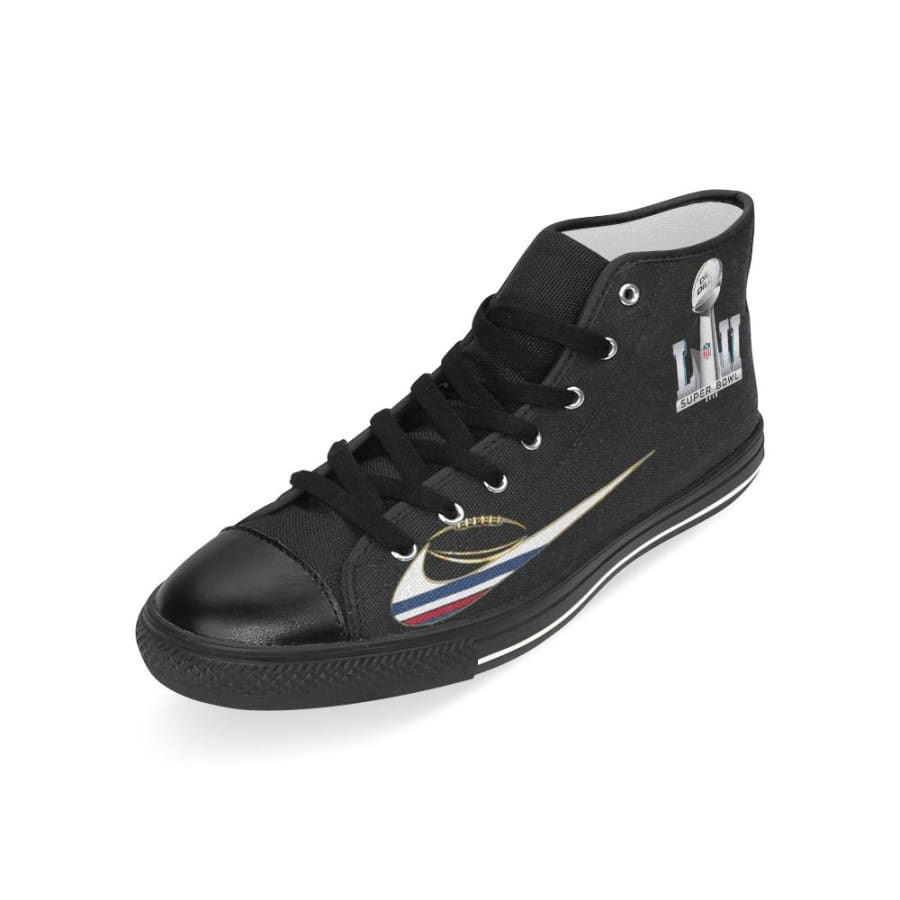 Go Patriots Super Bowl LII High Top Shoes Black For Men Women Kids