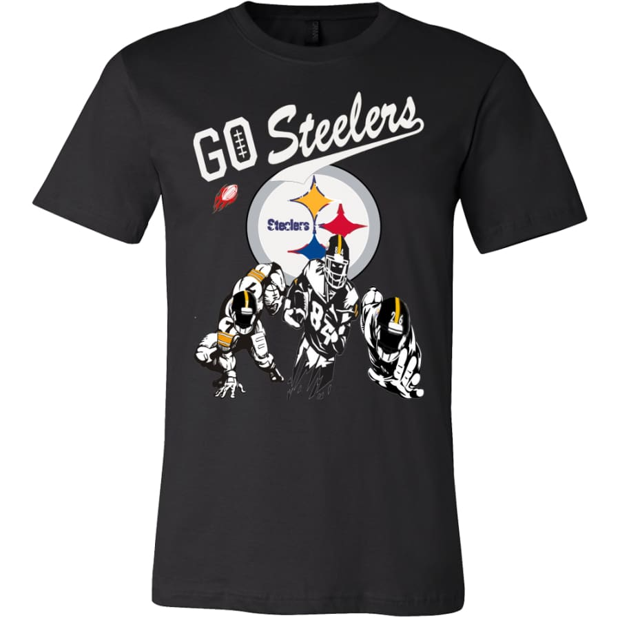 Go Steelers Pittsburgh Shirt (15 Colors) - Canvas Mens / Black / S