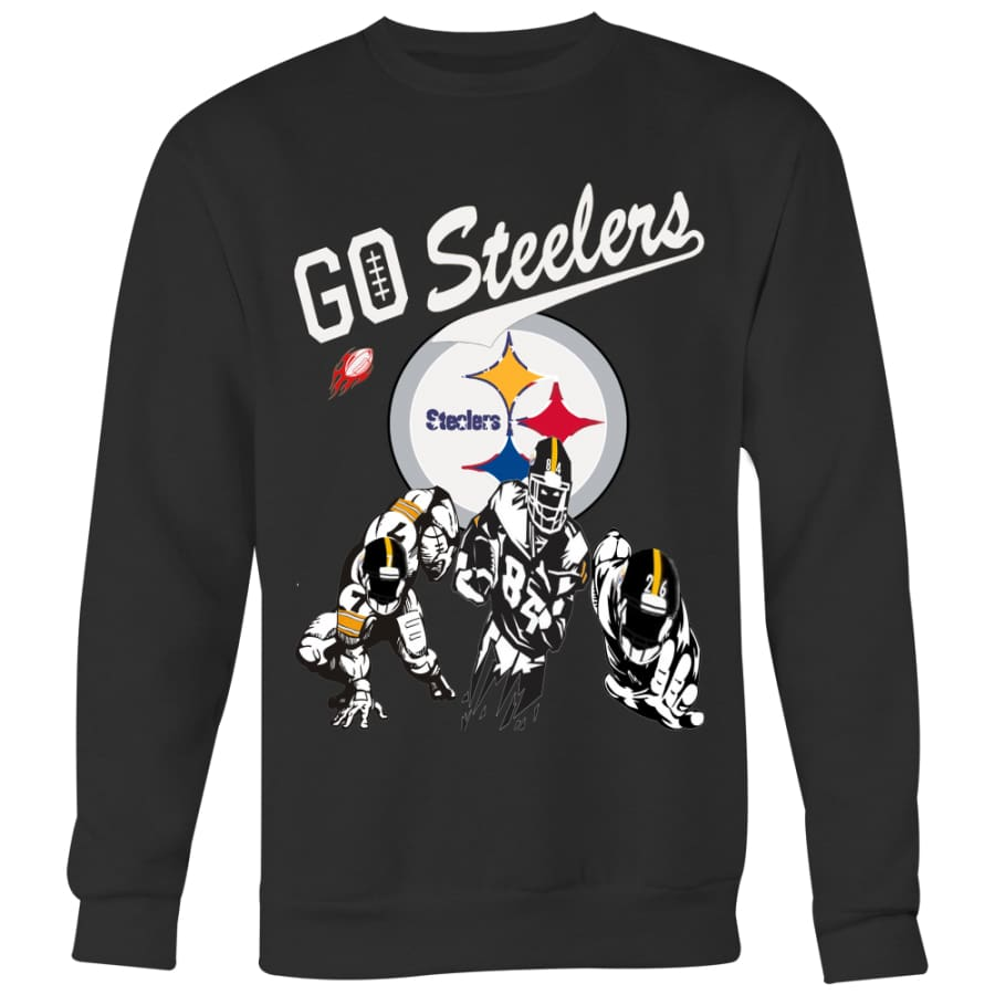 Go Steelers Pittsburgh Sweatshirt For Men Women (4 Colors) - Crewneck / Black / S