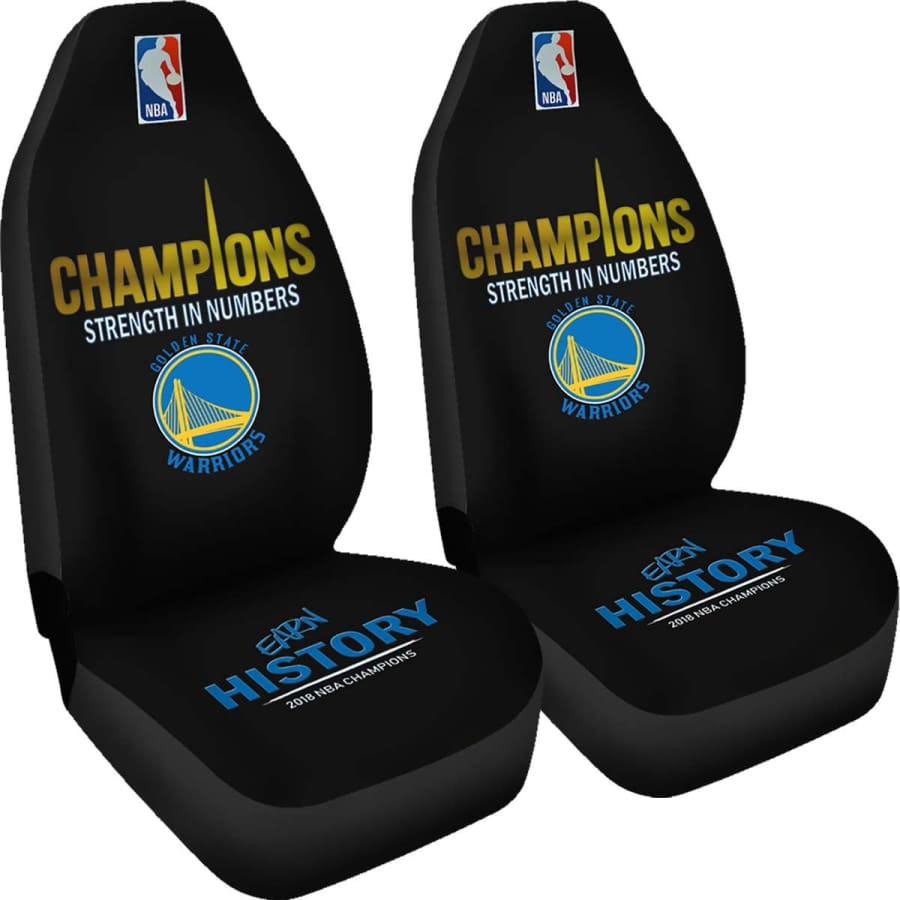 Golden State Warriors Car Seat Covers|2018 NBA Champions Set - Covers - 2018 / Universal Fit