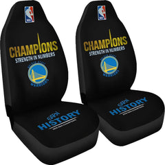 Golden State Warriors Car Seat Covers 2pcs| 2018 NBA Champions Seat Cover Set