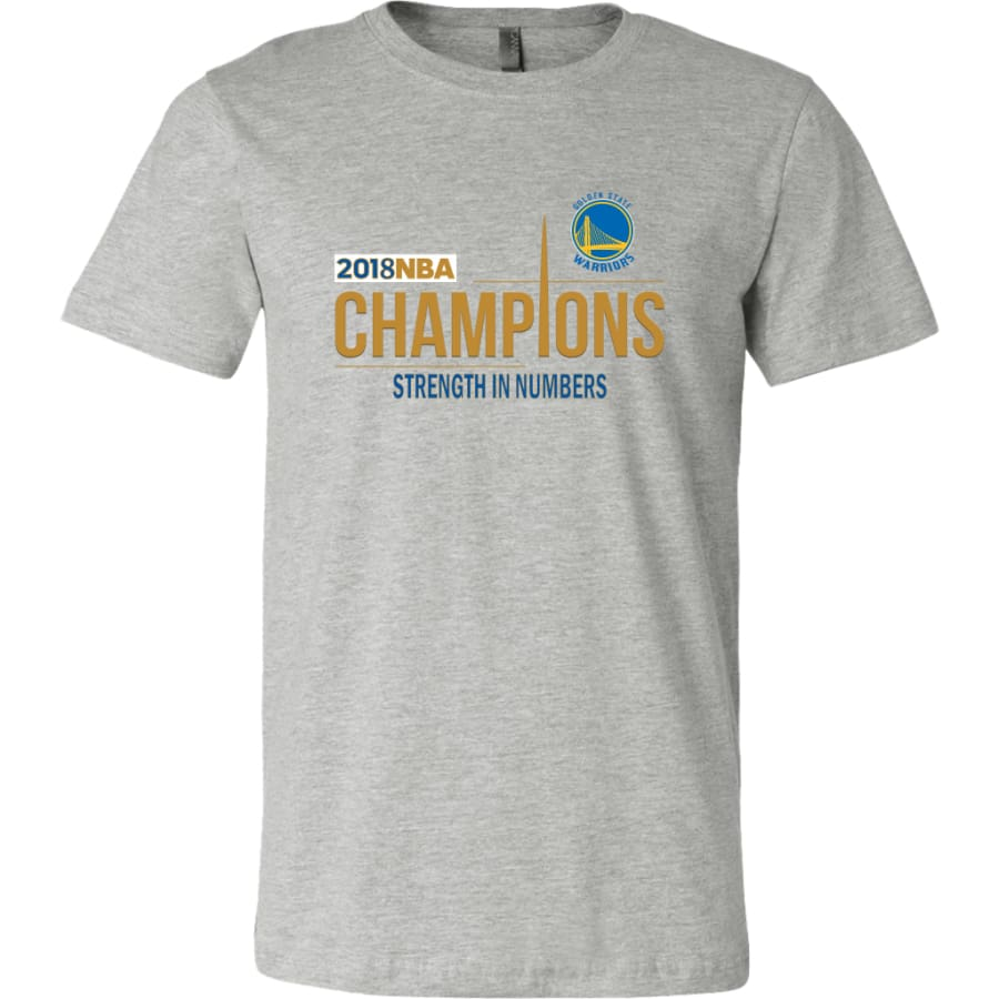 Golden State Warriors T Shirt | 2018 NBA Championship (14 Colors) - Canvas Mens / Athletic Heather / S