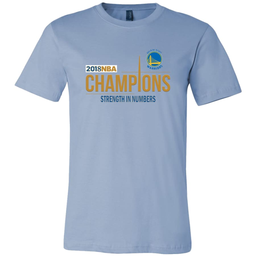 Golden State Warriors T Shirt | 2018 NBA Championship (14 Colors) - Canvas Mens / Baby Blue / S