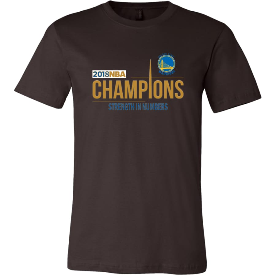 Golden State Warriors T Shirt | 2018 NBA Championship (14 Colors) - Canvas Mens / Brown / S