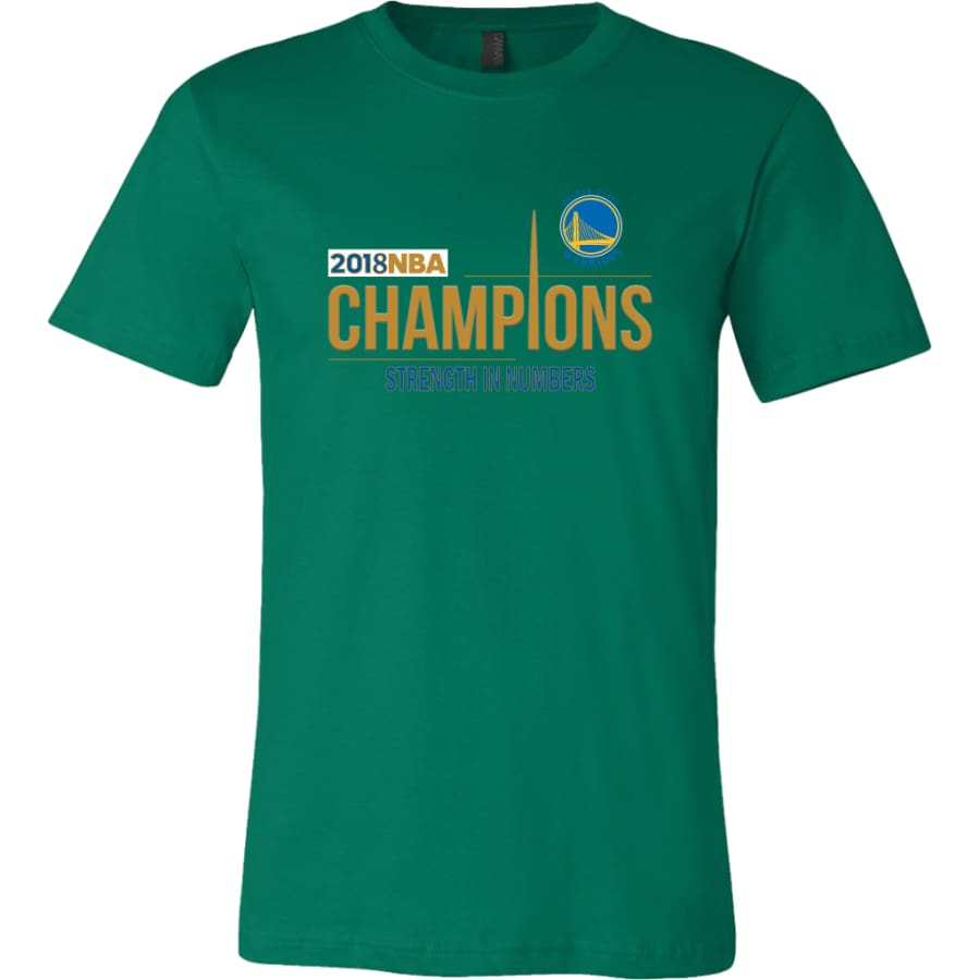 Golden State Warriors T Shirt | 2018 NBA Championship (14 Colors) - Canvas Mens / Kelly Green / S