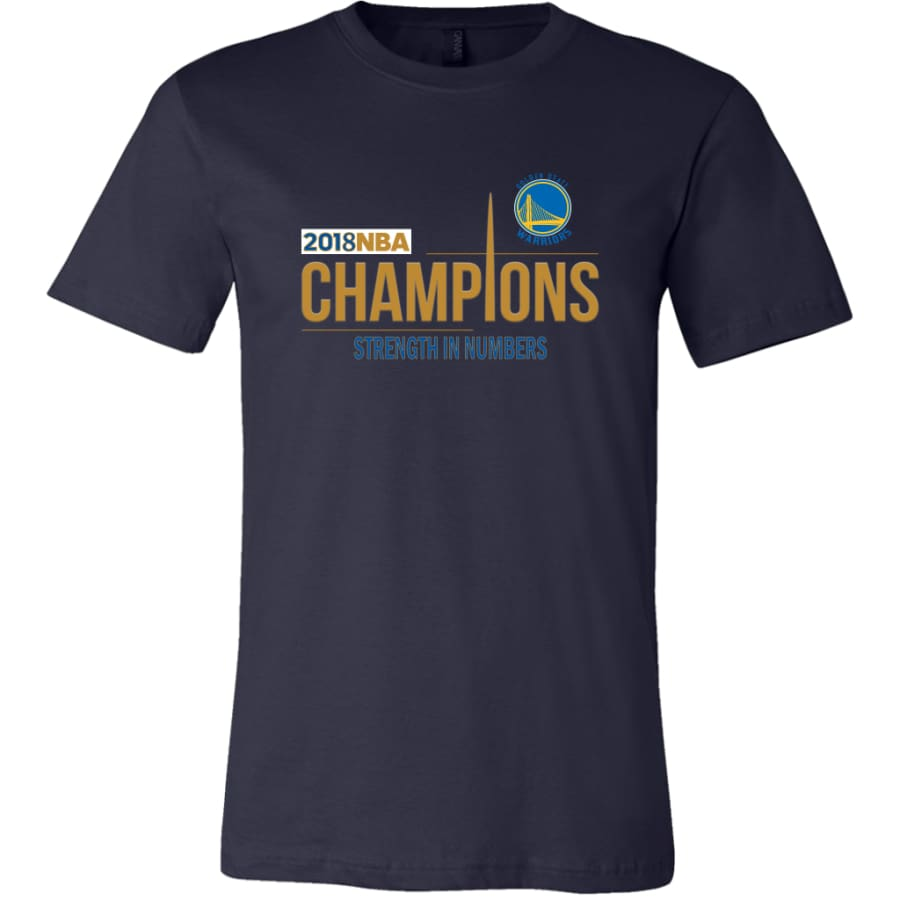 Golden State Warriors T Shirt | 2018 NBA Championship (14 Colors) - Canvas Mens / Navy / S