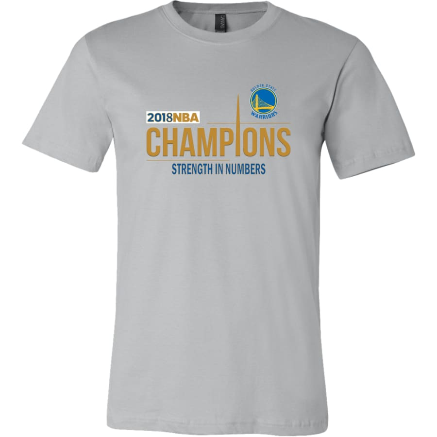 Golden State Warriors T Shirt | 2018 NBA Championship (14 Colors) - Canvas Mens / Silver / S