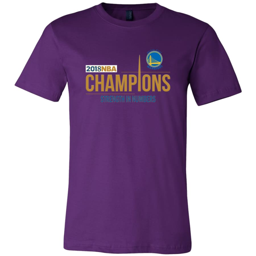 Golden State Warriors T Shirt | 2018 NBA Championship (14 Colors) - Canvas Mens / Team Purple / S