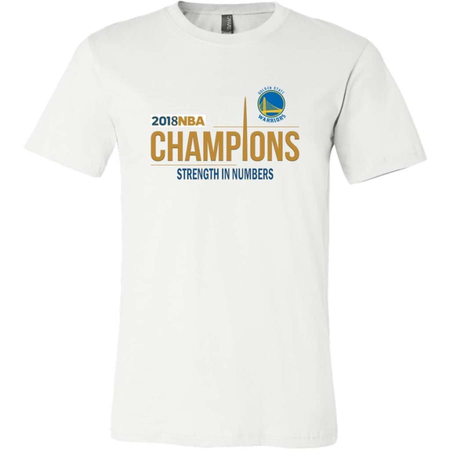 Golden State Warriors T Shirt | 2018 NBA Championship (14 Colors) - Canvas Mens / White / S