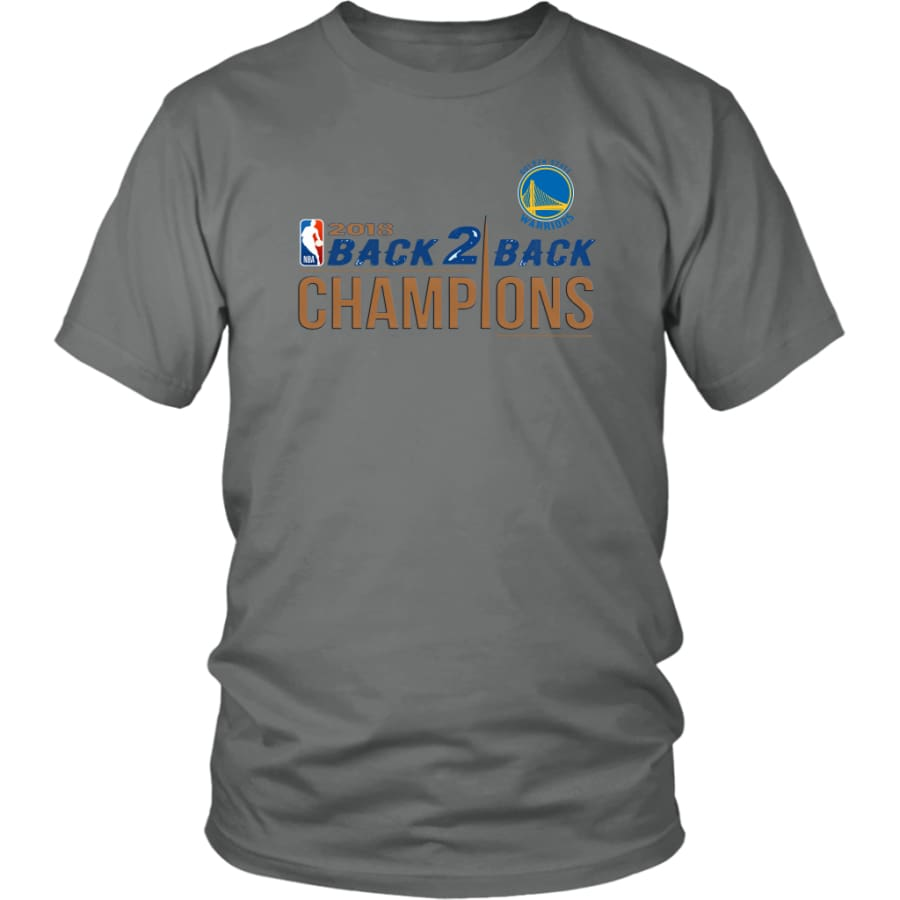 Golden State Warriors Unisex Shirt 2018 NBA Back 2 Champions (14 Colors) - District / Grey / S