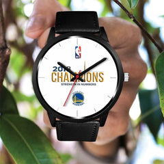 Golden State Warriors Watches For Men Women | 2018 NBA Champions Leather Watch (10 Styles)