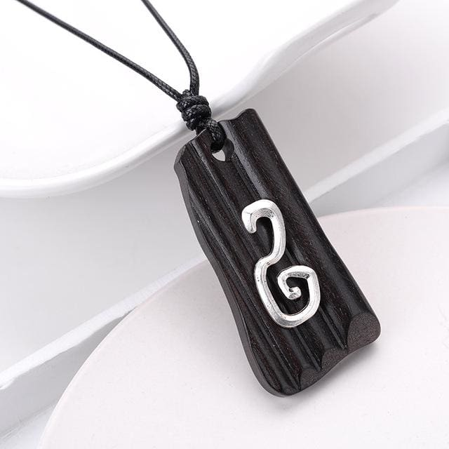 Handmade Wood Pendant Necklace for Men Women Meditation Healing (13 Styles) - 3