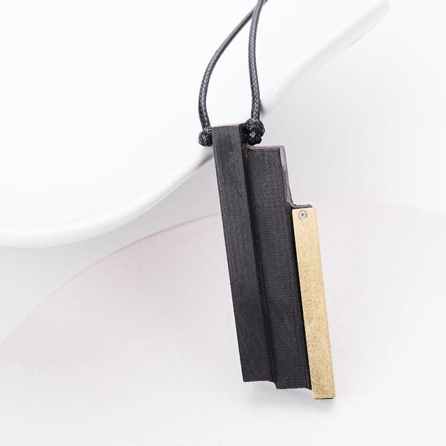 Handmade Wood Pendant Necklace for Men Women Meditation Healing (13 Styles) - 9