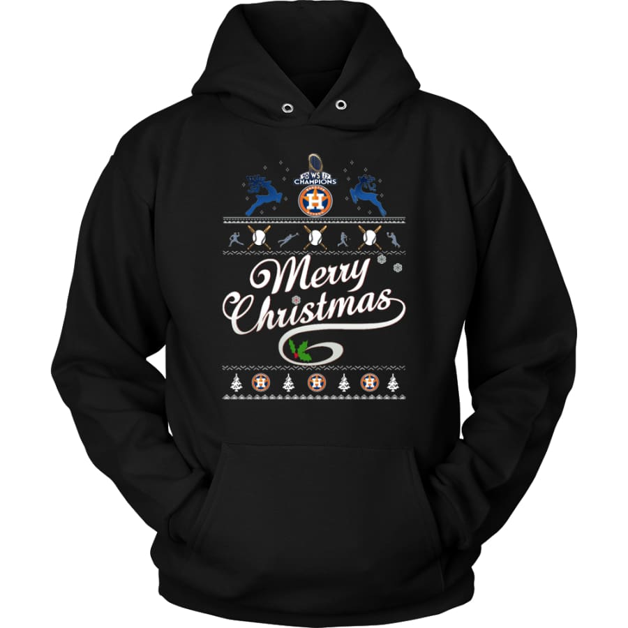 Houston Astros Champions 2017 Christmas Hoodie (12 Colors) - Unisex / Black / S