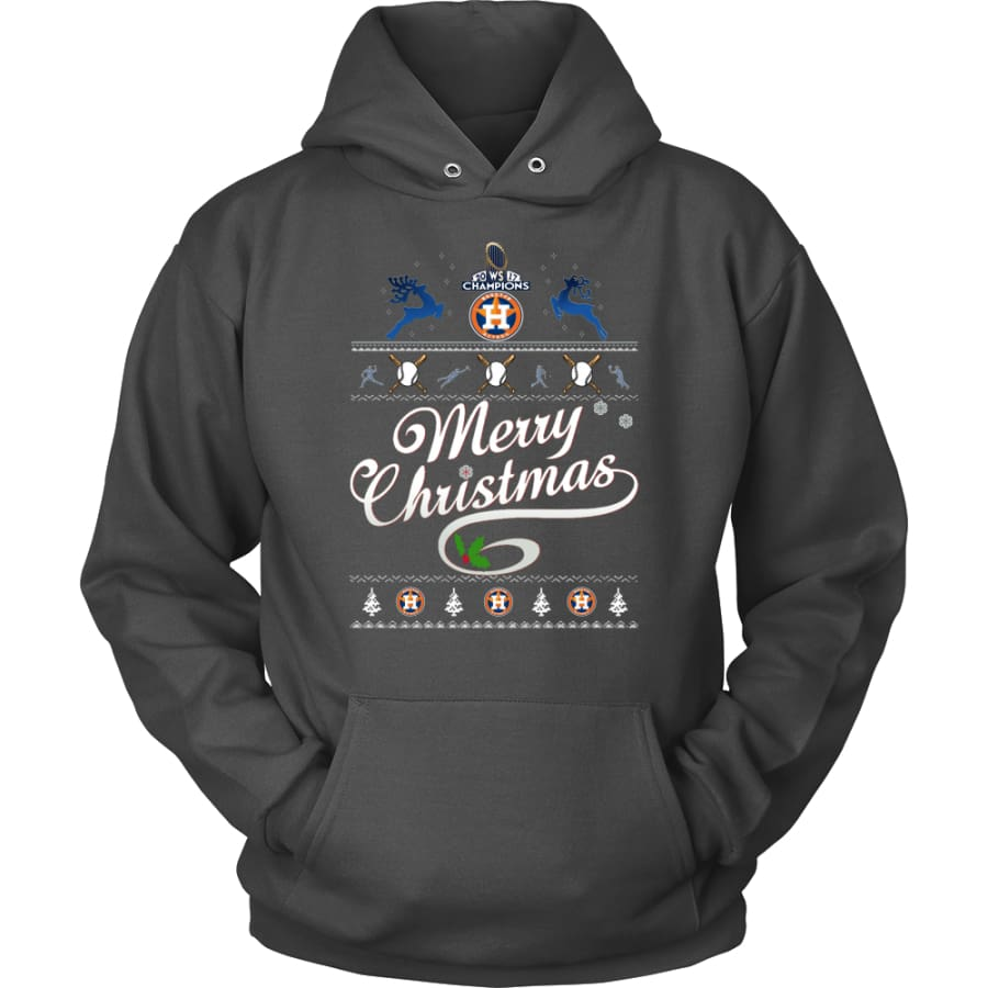 Houston Astros Champions 2017 Christmas Hoodie (12 Colors) - Unisex / Charcoal / S