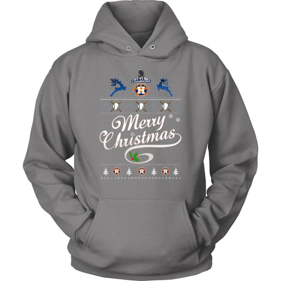 Houston Astros Champions 2017 Christmas Hoodie (12 Colors) - Unisex / Grey / S