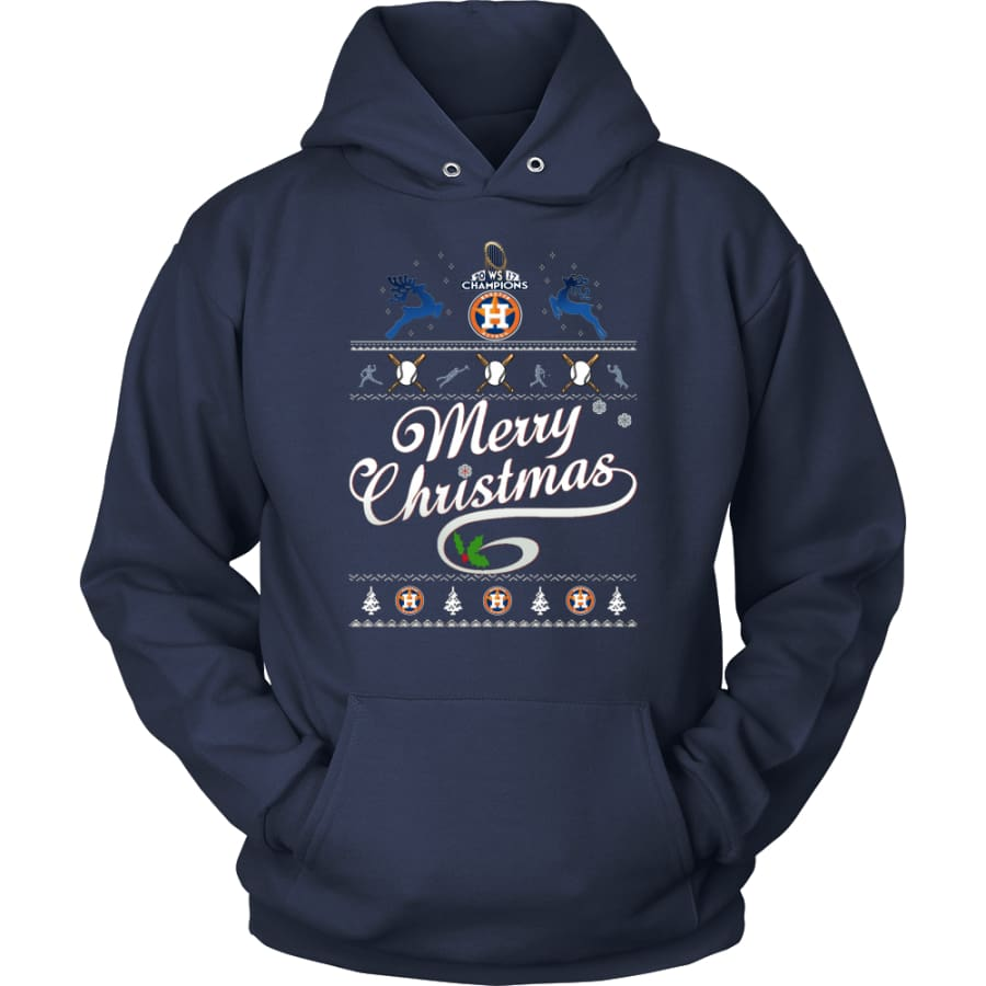 Houston Astros Champions 2017 Christmas Hoodie (12 Colors) - Unisex / Navy / S