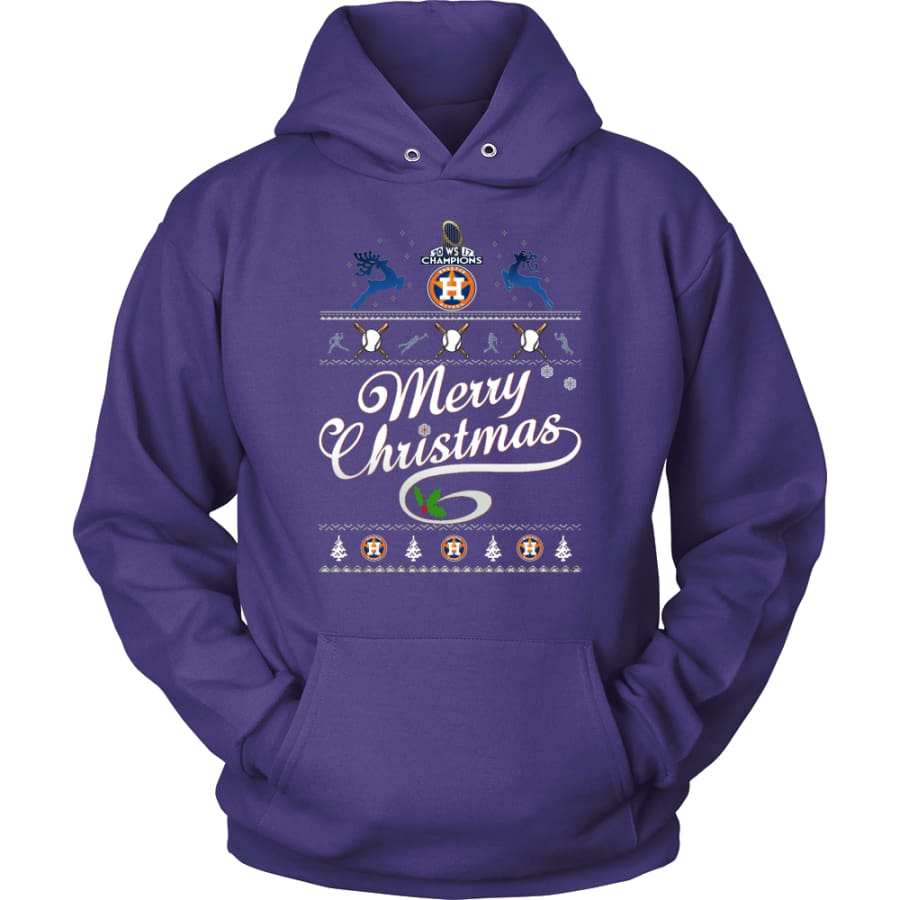 Houston Astros Champions 2017 Christmas Hoodie (12 Colors) - Unisex / Purple / S