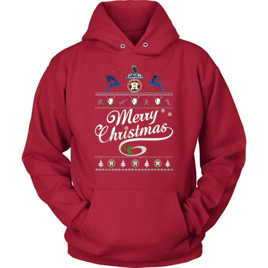 Houston Astros Champions 2017 Christmas Hoodie (12 Colors) - Unisex / Red / S