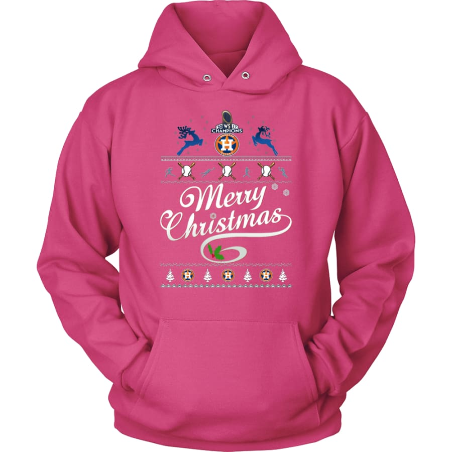 Houston Astros Champions 2017 Christmas Hoodie (12 Colors) - Unisex / Sangria / S