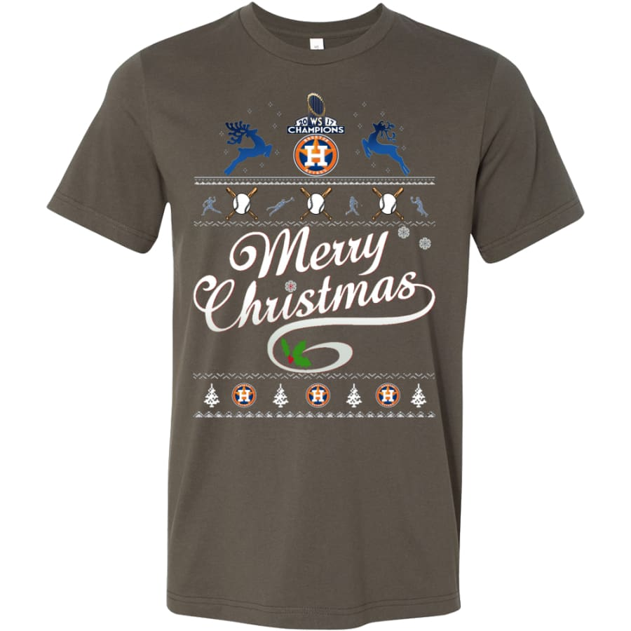Houston Astros Champs Christmas Shirt | Shirts(15 Colors) - Canvas Mens / Army / S