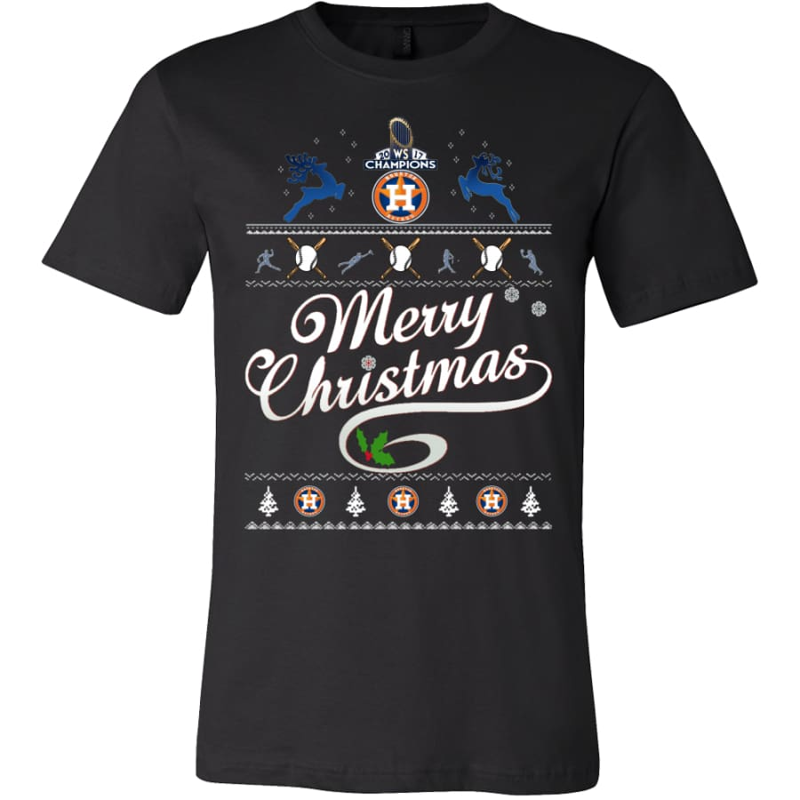 Houston Astros Champs Christmas Shirt | Shirts(15 Colors) - Canvas Mens / Black / S