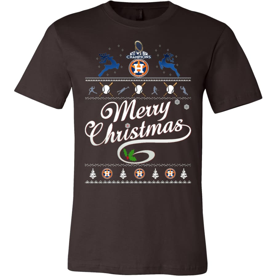 Houston Astros Champs Christmas Shirt | Shirts(15 Colors) - Canvas Mens / Brown / S