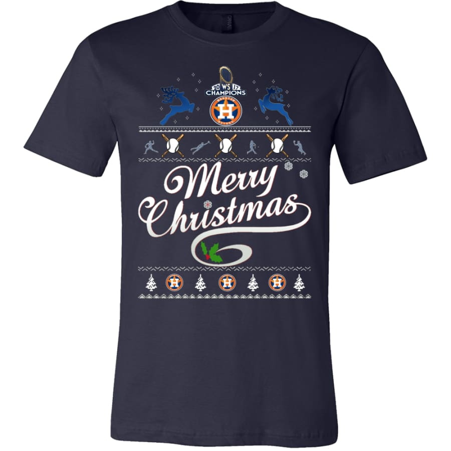 Houston Astros Champs Christmas Shirt | Shirts(15 Colors) - Canvas Mens / Navy / S