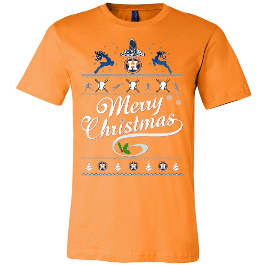 Houston Astros Champs Christmas Shirt | Shirts(15 Colors) - Canvas Mens / Orange / S