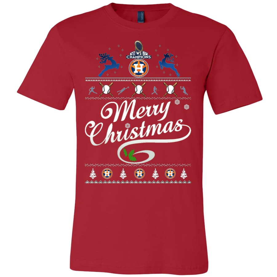Houston Astros Champs Christmas Shirt | Shirts(15 Colors) - Canvas Mens / Red / S
