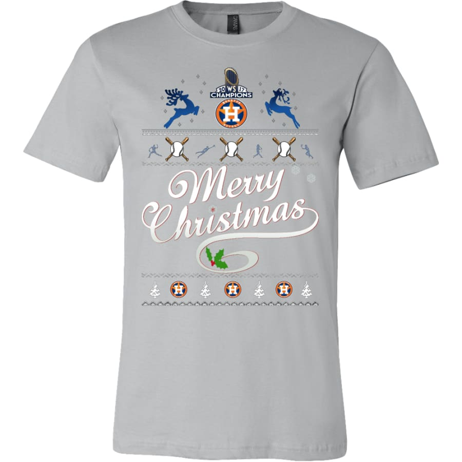 Houston Astros Champs Christmas Shirt | Shirts(15 Colors) - Canvas Mens / Silver / S