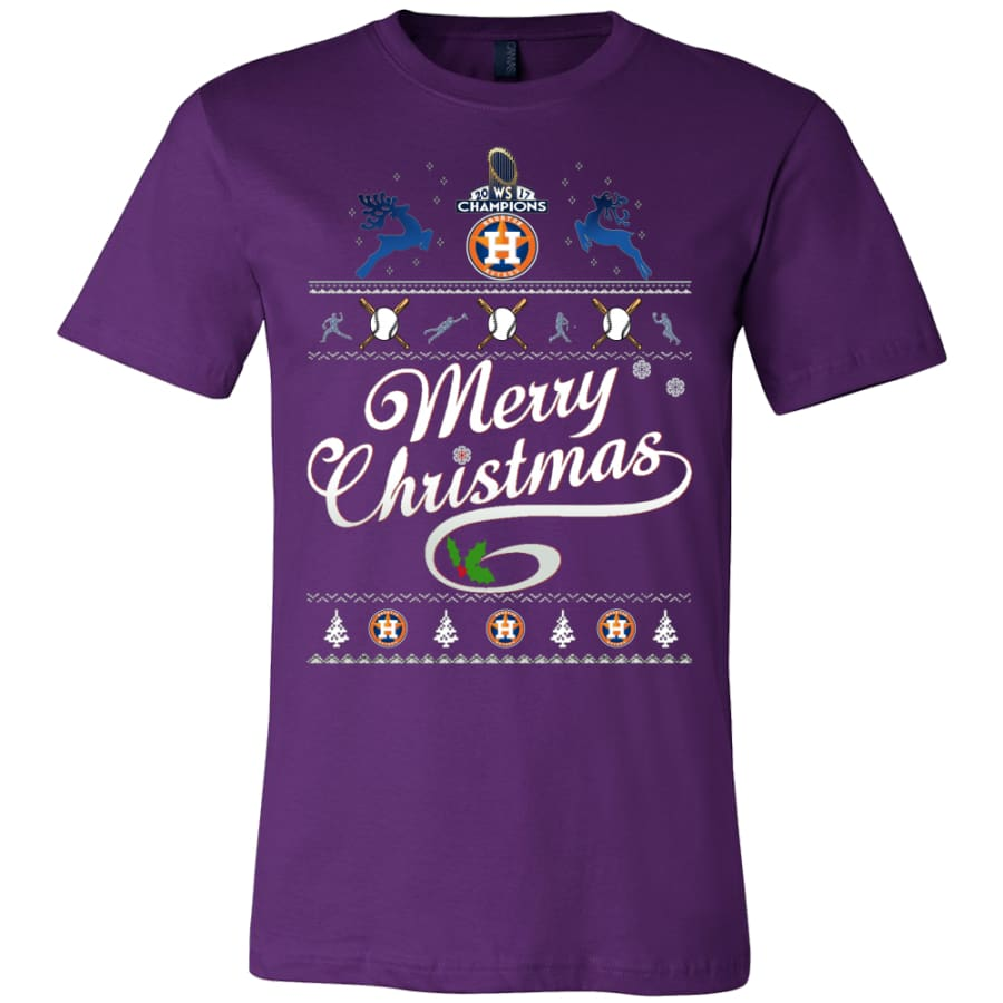 Houston Astros Champs Christmas Shirt | Shirts(15 Colors) - Canvas Mens / Team Purple / S