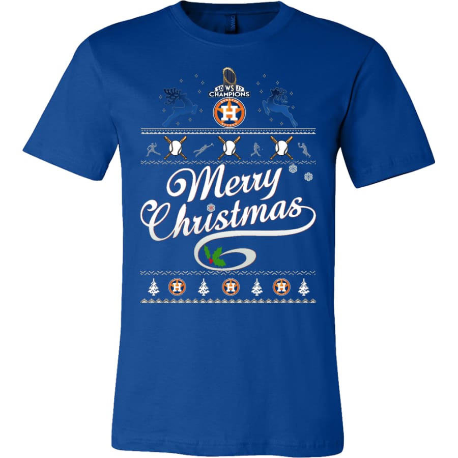 Houston Astros Champs Christmas Shirt | Shirts(15 Colors) - Canvas Mens / True Royal / S