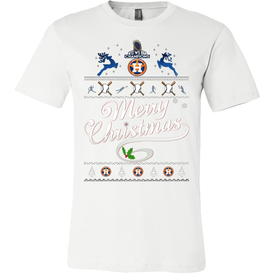 Houston Astros Champs Christmas Shirt | Shirts(15 Colors) - Canvas Mens / White / S