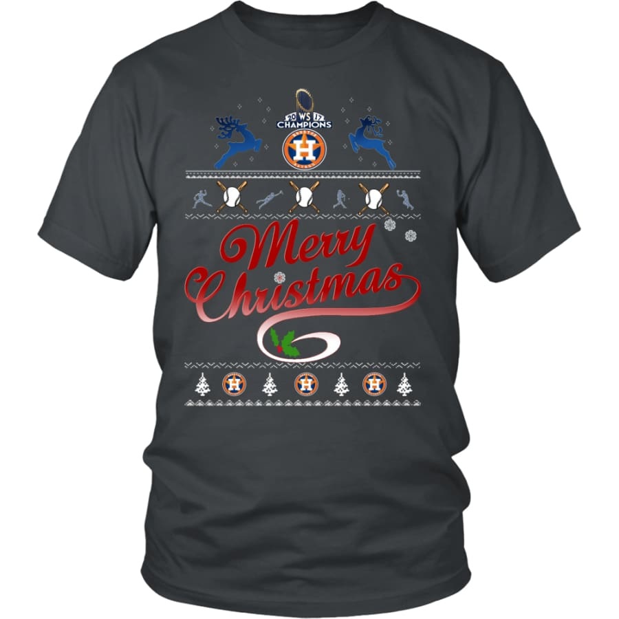 Houston Astros Shirts For Christmas (13 Colors) - District Unisex Shirt / Charcoal / S