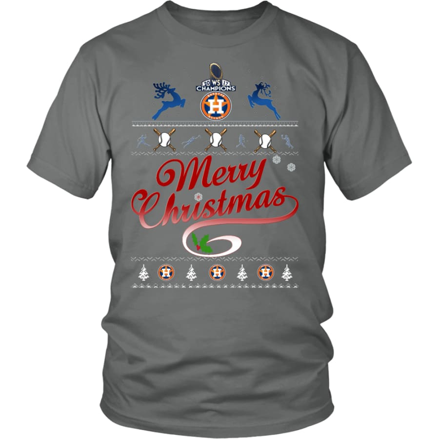 Houston Astros Shirts For Christmas (13 Colors) - District Unisex Shirt / Grey / S