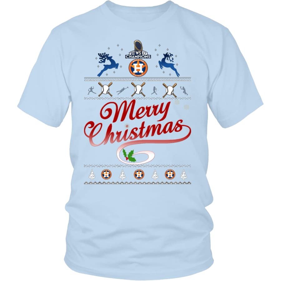Houston Astros Shirts For Christmas (13 Colors) - District Unisex Shirt / Ice Blue / S
