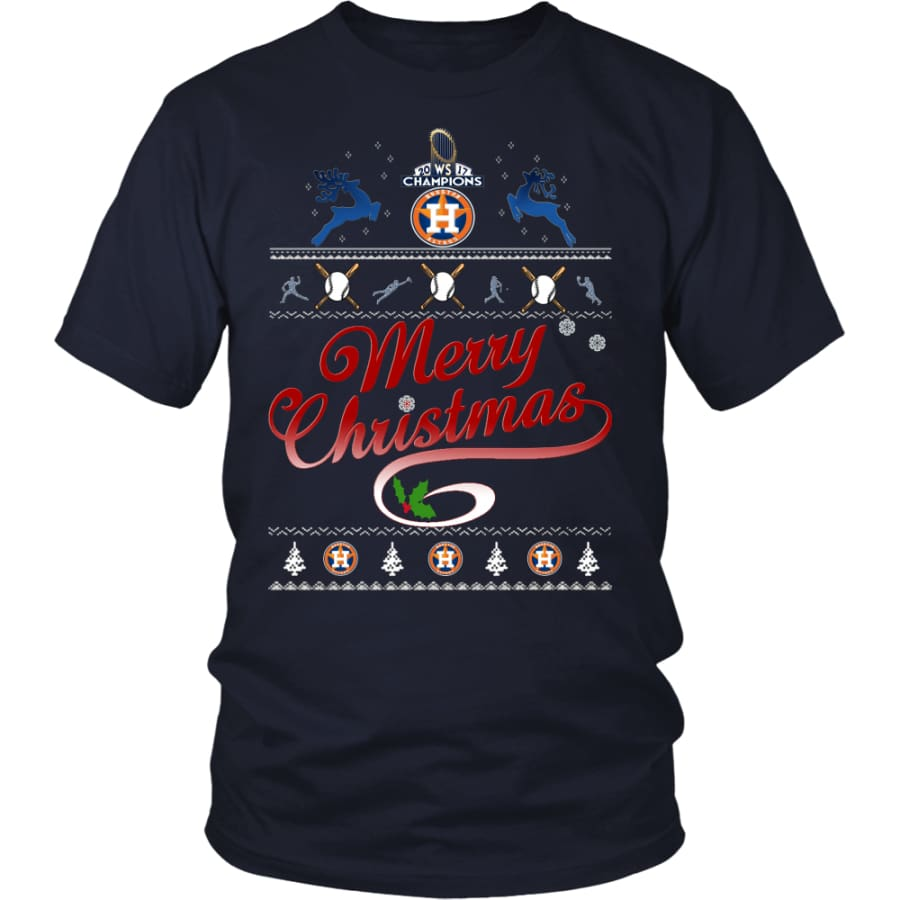 Houston Astros Shirts For Christmas (13 Colors) - District Unisex Shirt / Navy / S