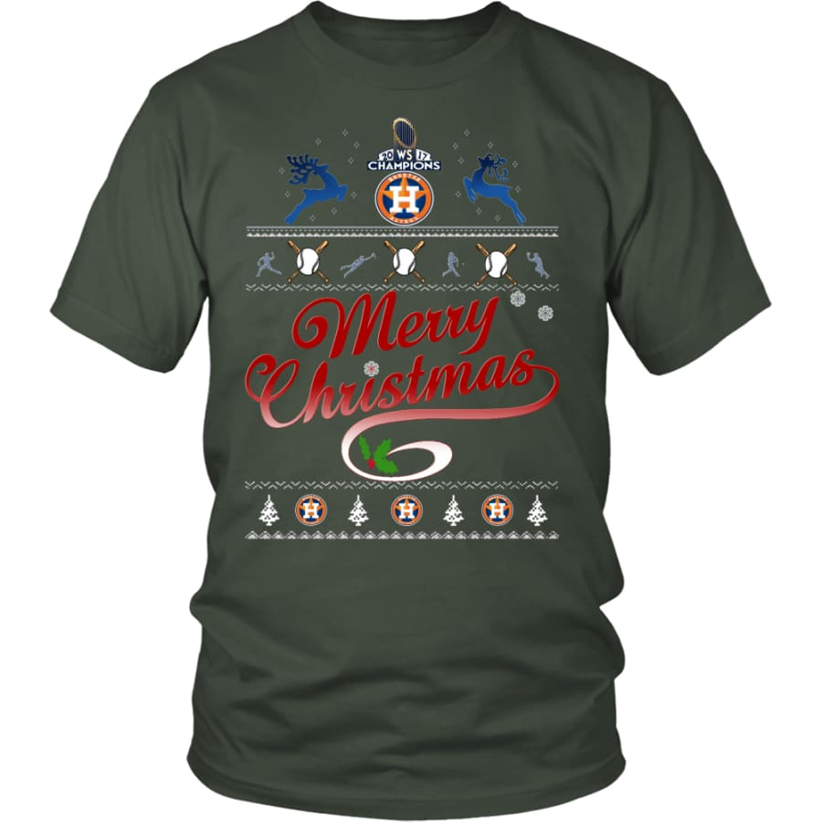 Houston Astros Shirts For Christmas (13 Colors) - District Unisex Shirt / Olive / S